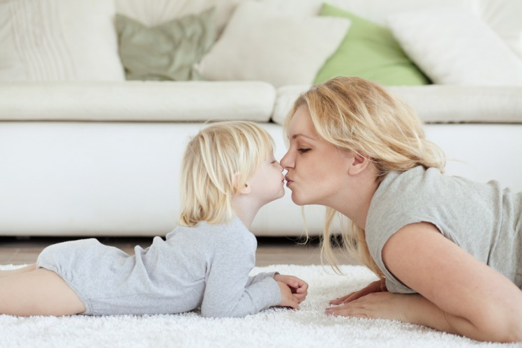 mother and baby dry safe carpet and rug cleaning service Sydney from Carpet Cleaning Authority